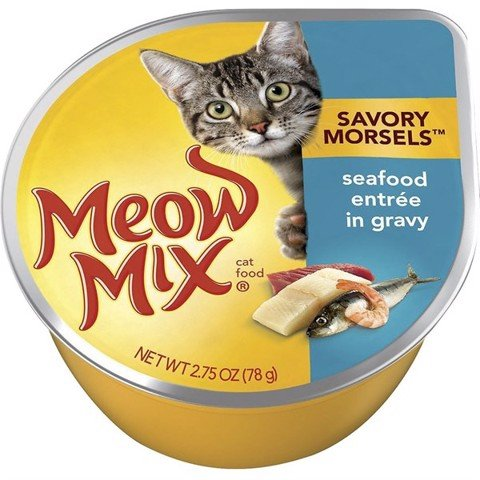 Meow Mix Savory Morsels Seafood Entree in Gravy 78g