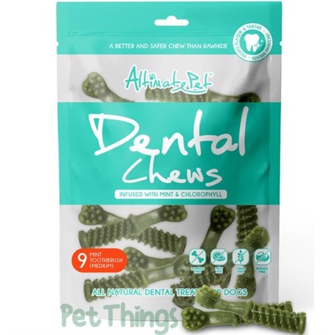 Altimate Pet Dental Chews Mint 9 Toothbrush Medium 150g