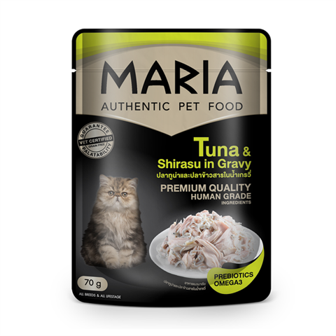 Maria cat Tuna & Shirasu in Gravy 70g