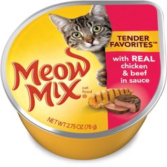 Meow Mix Tender Chicken & Beef in Sauce 78g