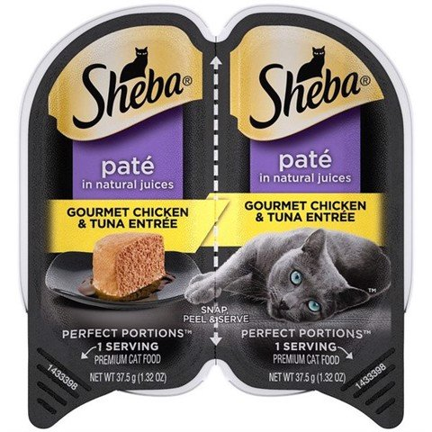 Sheba Perfect Portions Grain Free Paté Gourmet Chicken & Tuna 37.5gx2