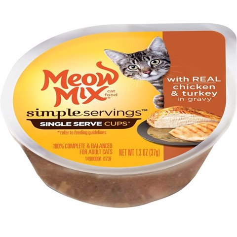 Meow Mix Simple Servings Chicken & Turkey in Gravy 37g