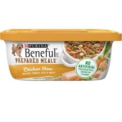 Purina Beneful Prepared Meals Chicken Stew with Rice, Carrots, Peas & Barley 283g