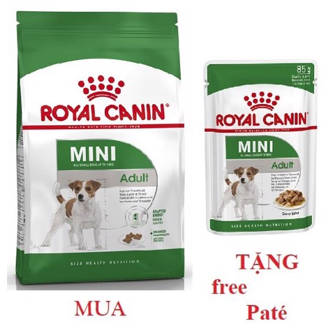 Combo Royal Canin Mini Adult 800g + Mini Adult 85g