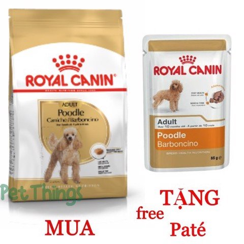 Combo Royal Canin Poodle 500g + 1 Poodle 85g