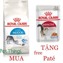 Combo Royal Canin Indoor 27 400g + Instinctive Jelly 85g