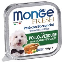Monge Fresh Chicken & Vegetables 100g