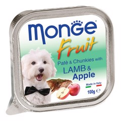 Monge Fruit Pate & Chunckies Lamb & Apple 100g