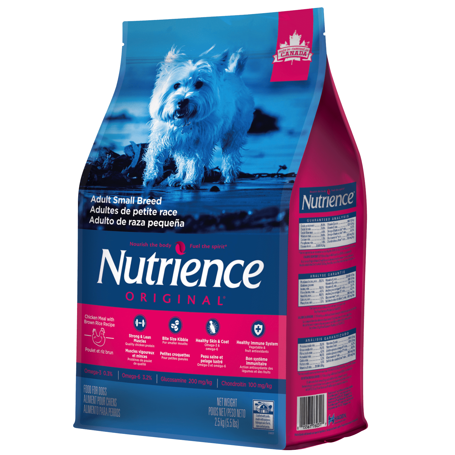 Nutrience Original Adult Dog Small Breed, Chicken & Brown Rice