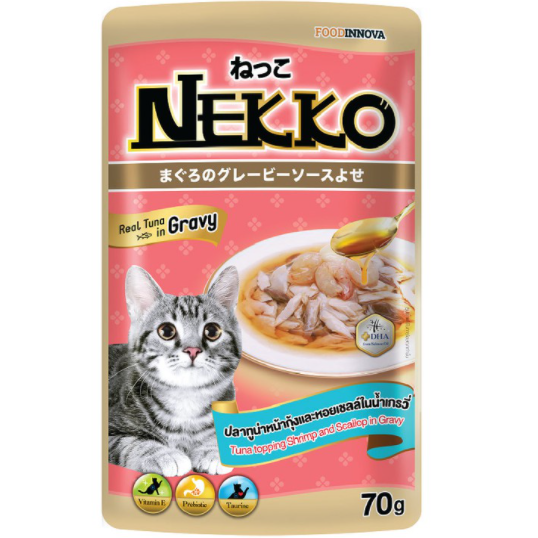 Nekko Tuna topping Shrimp in gravy 70g