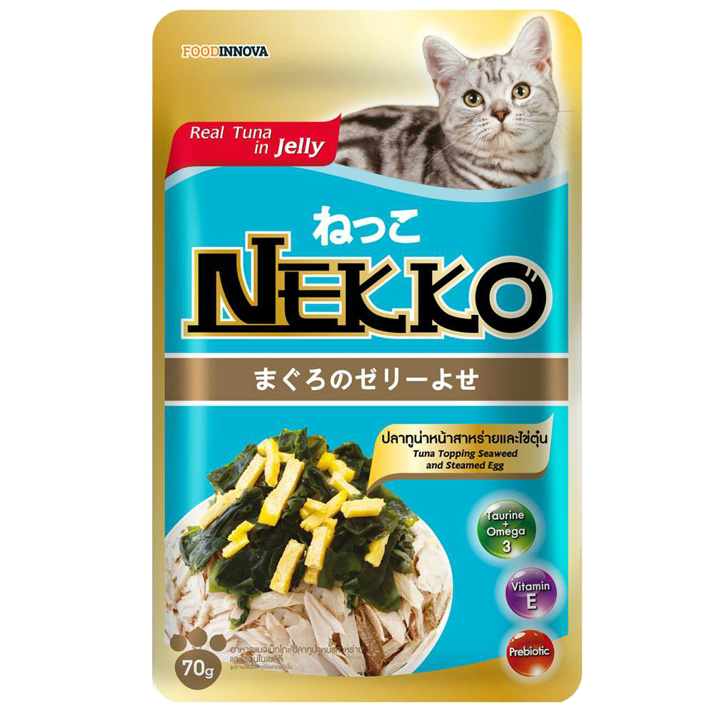 Nekko Tuna topping Seaweed & Steam Egg 70g