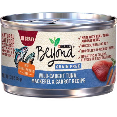 Purina Beyond Grain-Free Tuna, Mackerel & Carrot Recipe in Gravy 85g
