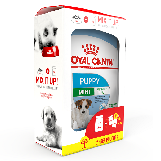 Combo 1 Mini puppy 2kg + FREE 2 Mini puppy 85g