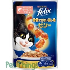 Felix Sensations Salmon & Tomato in Jelly 70g