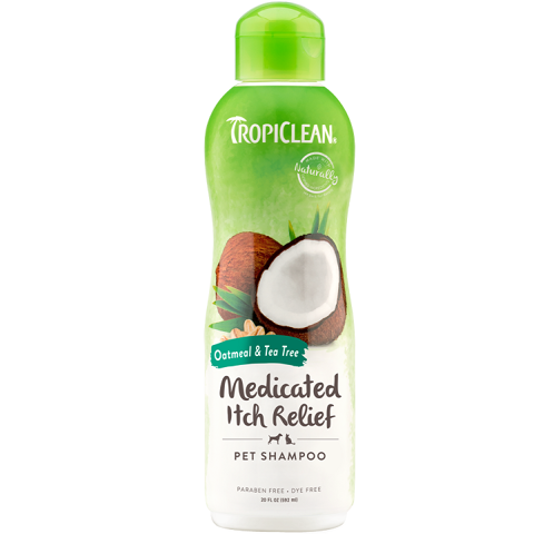 TropiClean for Dog, Oatmeal & Tea Tree to relieve dry, itchy skin Shampoo 355ml