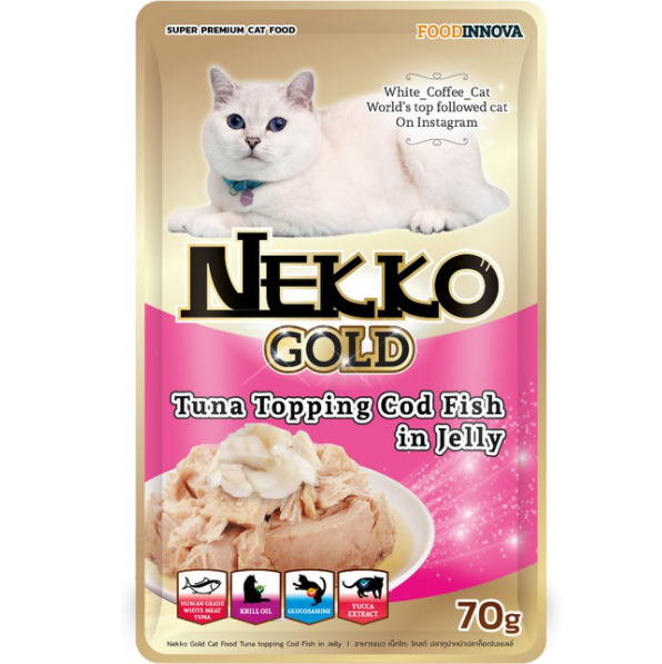 Nekko Gold Tuna topping Cod Fish in Jelly 70g