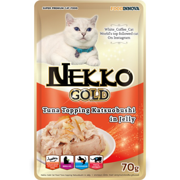 Nekko Gold Tuna topping Katsuobushi in Gravy 70g