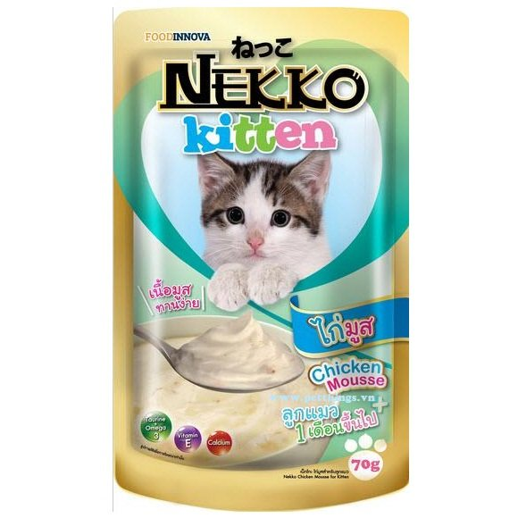 Nekko Kitten Chicken mousse 70g