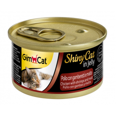 GimCat ShinyCat in Jelly chicken with shrimp + malt 70g