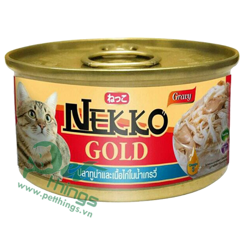 Nekko Gold Tuna & Chicken in gravy 85g