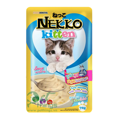 Nekko Kitten Tuna Mousse with Goat Milk 70g