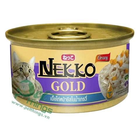 Nekko Gold Chicken topping Cheese in gravy 85g