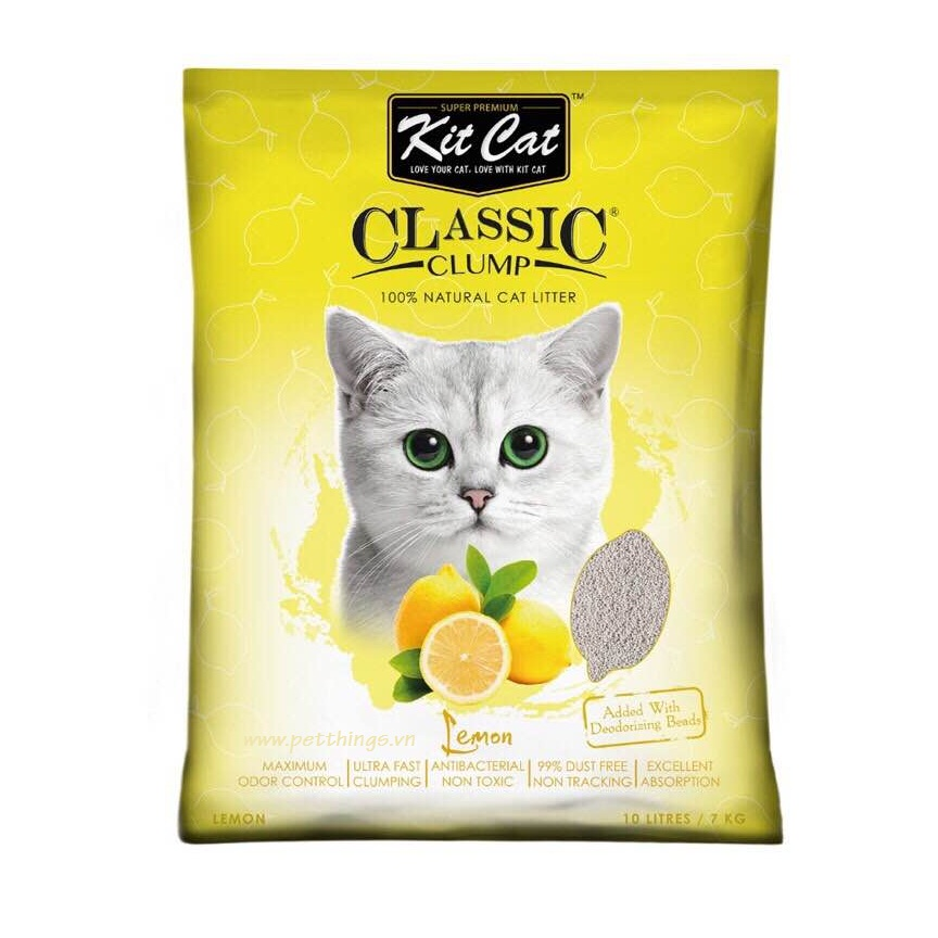 Kit Cat Clumping Lemon 10 Lít