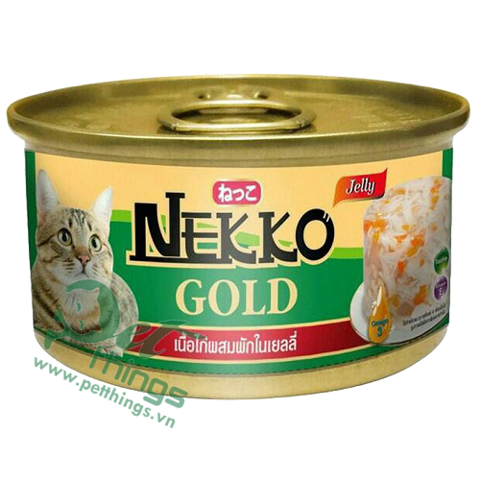 Nekko Gold Chicken mixed Vegetable in jelly 85g