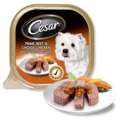 Cesar Prime Beef & Choice Chicken 100g