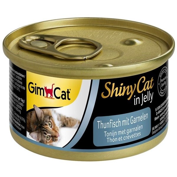 GimCat ShinyCat in Jelly Tuna With Shrimp 70g