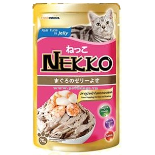 Nekko Tuna top Shrimp & Scallop 70g