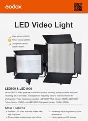 LED GODOX Video Light LED500