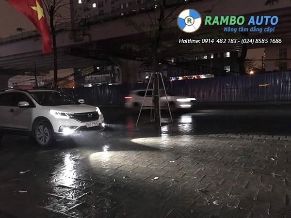 Lắp đèn bi gầm tăng sáng cho Honda CRV