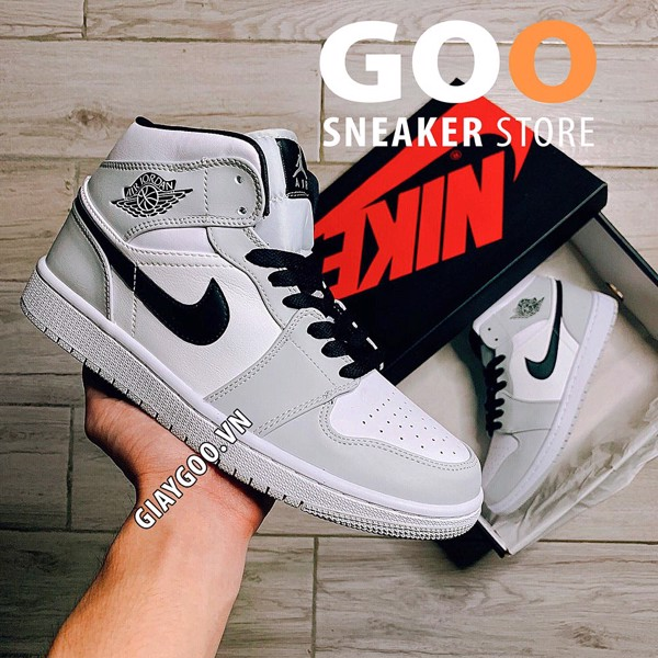 Nike Air Jordan 1 Mid Light Smoke Grey 1:1