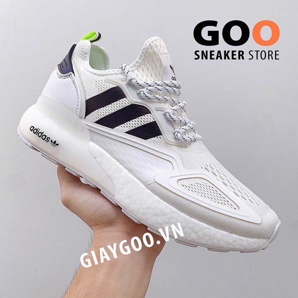 Adidas Zx 2k Boost White Black 1:1
