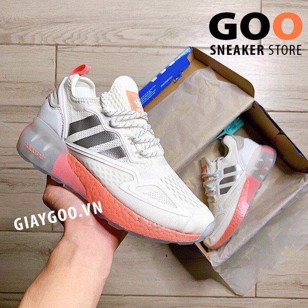 Adidas Zx 2k Boost Cream White Orange 1:1