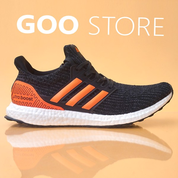 adidas ultra boost 4.0 Core Black Solar Orange nam nữ replica