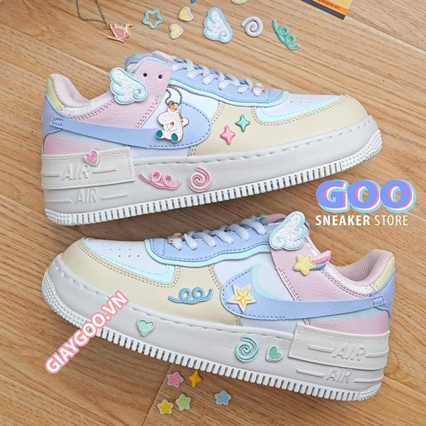 Nike Air Force 1 Shadow Macaroon Candy (Tặng Phụ Kiện)