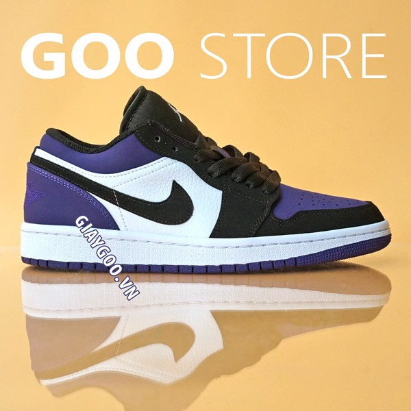 Nike Jordan 1 Low 'Court' Purple Black  1:1