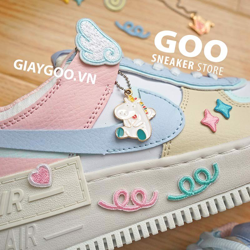 Giay Nike Air Force 1 Shadow Macaroon Candy Rep 1 1 đủ Phụ Kiện Goo Store This particular colorway has the easter/pastel color vibes going on. nike air force 1 shadow macaroon candy tặng phụ kiện