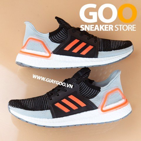 Ultra Boost 5.0 Đen Cam Replica 1:1