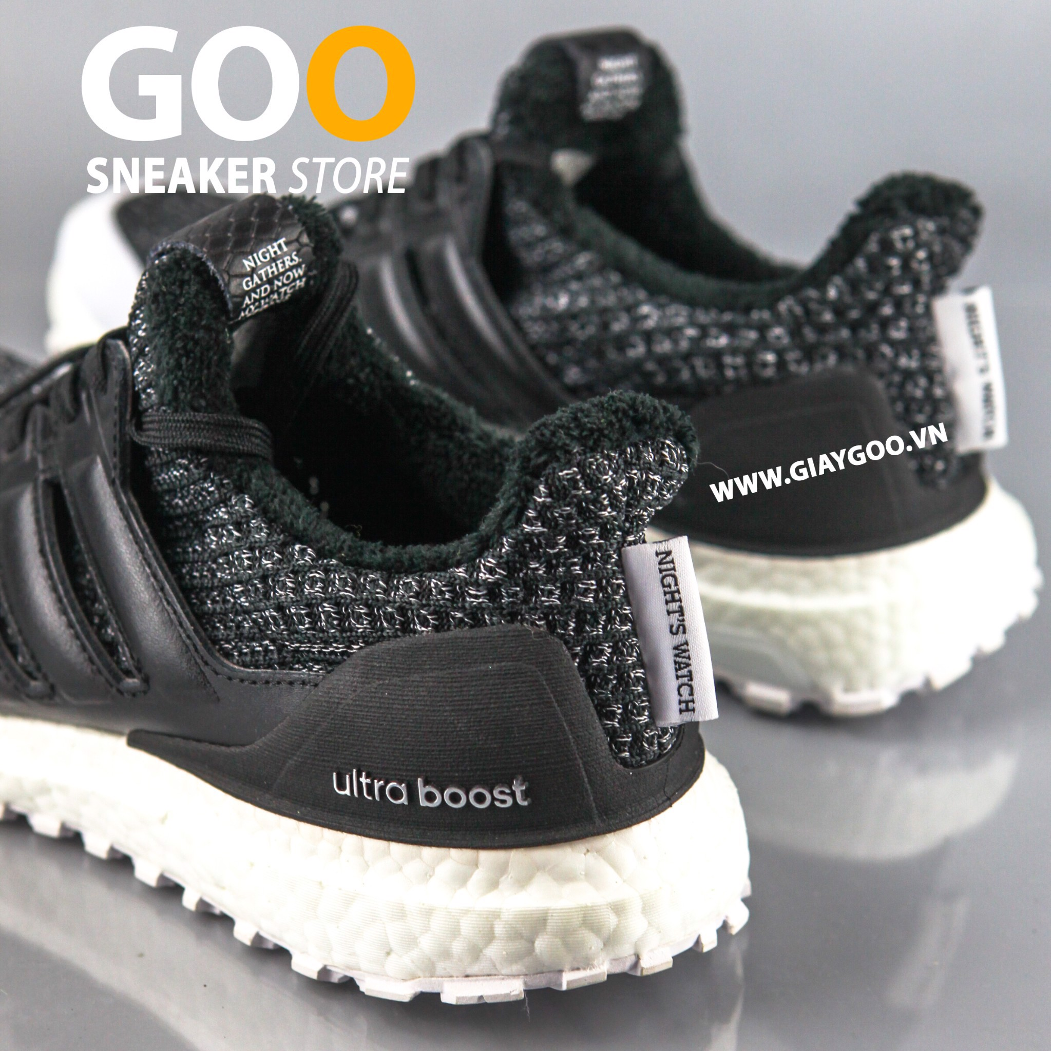 Giày Ultra Boost 4.0 Game Of Thrones Night Watch Rep 1:1