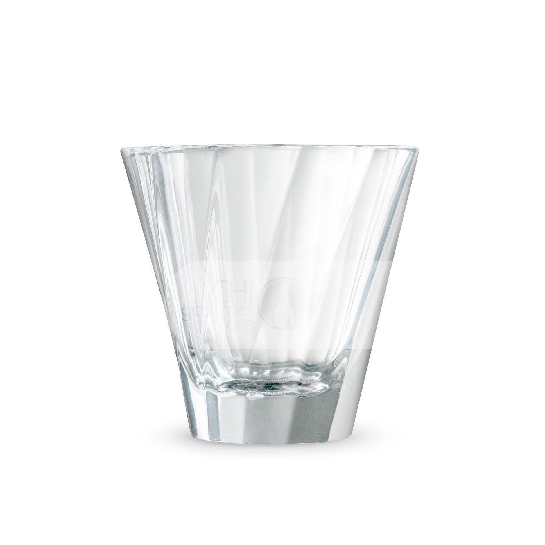 Urban glass twisted Cappuccino glass (clear)