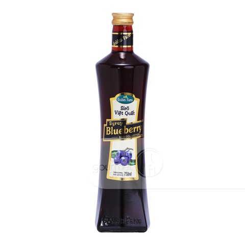 Syrup Việt Quất 750ml - Golden Farm
