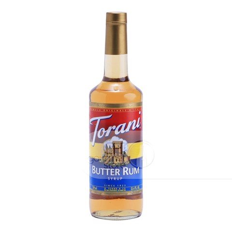 Syrup Butter Rum 750ml - Torani