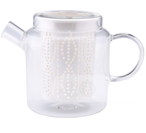 Weave 1L Glass Teapot with Porcelain Infuser (Clear)