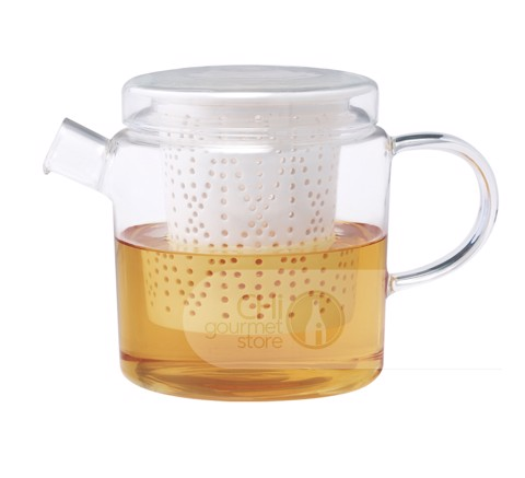 Weave Glass Teapot with Porcelain Infuser (Clear) 700ml