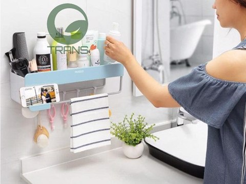 Kệ phòng tắm Ecoco không cần khoan