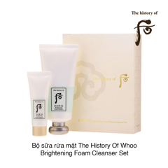 BỘ SỮA RỬA MẶT THE HISTORY OF WHOO GONGJINHYANG:SEOL BRIGHTENING FOAM CLEANSER SPECIAL SET