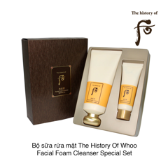 BỘ SỮA RỬA MẶT THE HISTORY OF WHOO GONGJINHYANG FACIAL FOAM CLEANSER SPECIAL SET